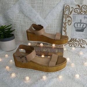 Steve Madden wood platform sandals